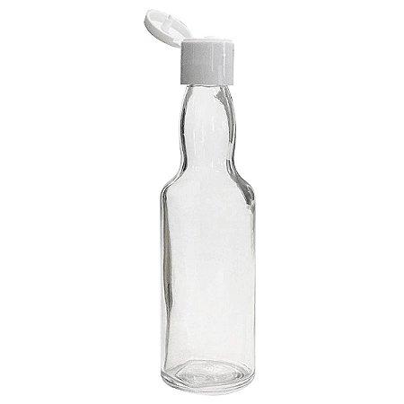 Garrafinha de Vidro 60 ml Tampa Flip 10 unid