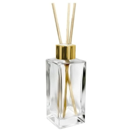 Vidro para Aromatizador 200 ml Retangular Cristal