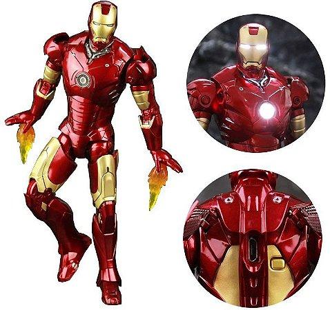 Iron Man ZD Toys (Mark III) c/ Iluminação LED