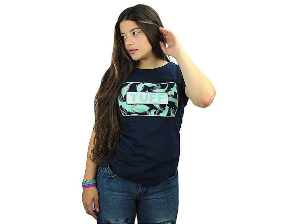 Camiseta Tuff Feminina Azul Marinho Silk Azul Cinza TS4171