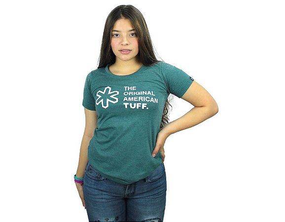 Camiseta Tuff Feminina Verde Silk Branco TS4141