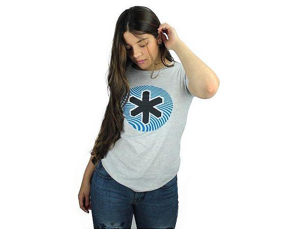 Camiseta Tuff Feminina Mescla Silk Azul Preto TS4151