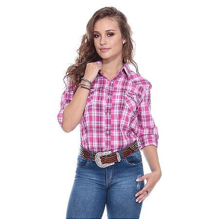 Camisa Xadrez PBR Oficial Rosa PBR003F - Vitrine do Cowboy - A Loja ... e714f68abdc71