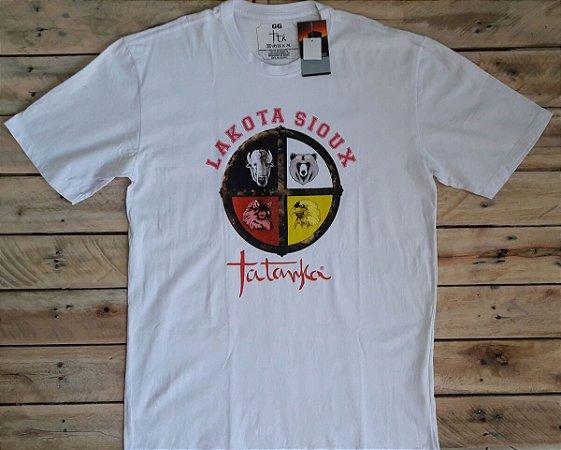 Camiseta Tatanka Masculina Branca Lakota Sioux