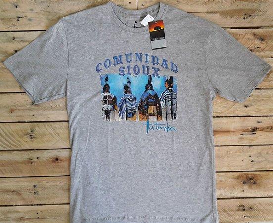 Camiseta Tatanka Masculina Cinza Comunidad Sioux