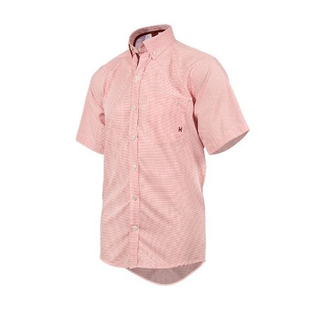 Camisa TXC Masculina Rosa Bordado Vinho 2078C
