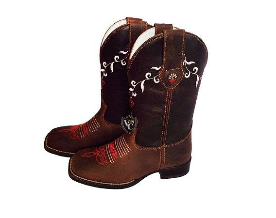 c2dece1e78 Bota Dahora Boots Feminina Crazy Café 060 - Vitrine do Cowboy - A ...