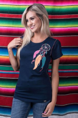 Camiseta Miss Country Feathers Neon 324