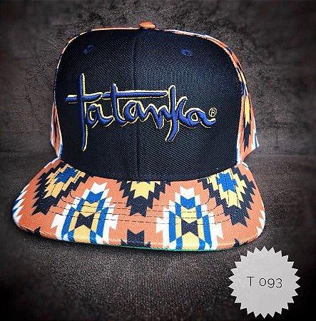 Boné Tatanka Navajo Preto Bordado T093 - Vitrine do Cowboy - A Loja ... b08ac488c79