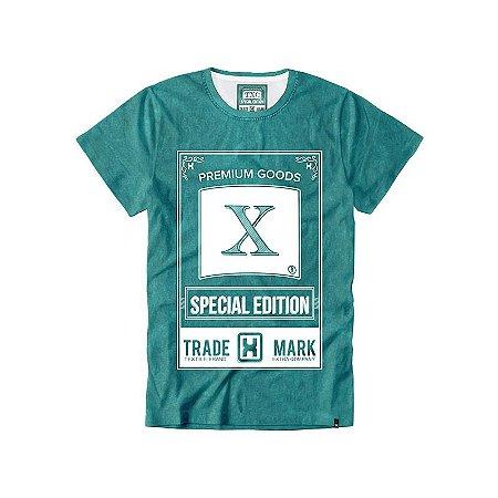 Camiseta Txc Brand Masculina Verde/Branco 1122