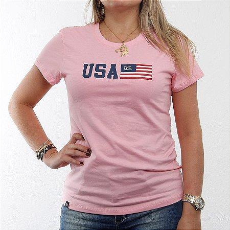 Camiseta Txc Feminina Baby Look Rosa 4062