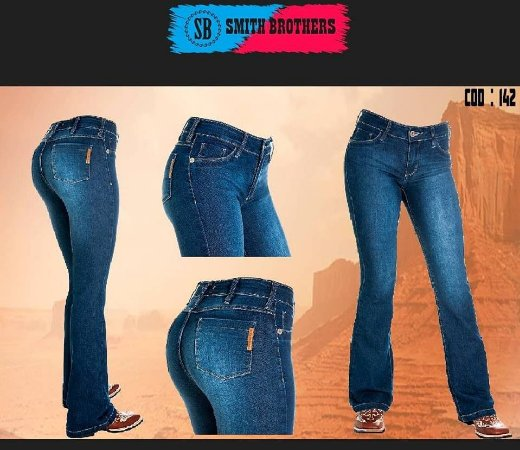 Calça Jeans Smith Brothers Fem. Flare Jato Stone B142 - Vitrine do ... 9a3baf50dbd
