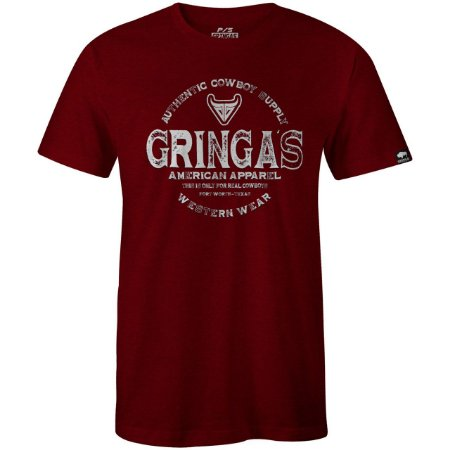Camiseta Gringa'S Western Masculina Type Sangria