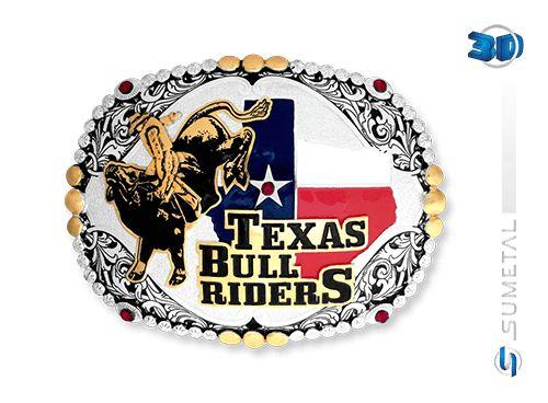 Fivela Texas Bull Rider Sumetal 6460F