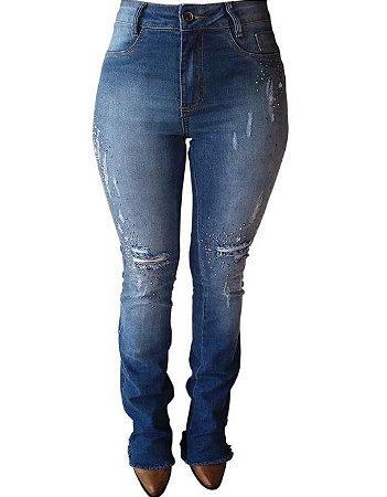 Calça Jeans Minuty Feminina Flare 201817 - Vitrine do Cowboy - A ... cd48b240030