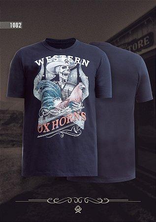 Camiseta Ox Horns Masculina Preta 1082