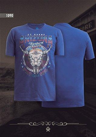 Camiseta Ox Horns Masculina Azul 1090