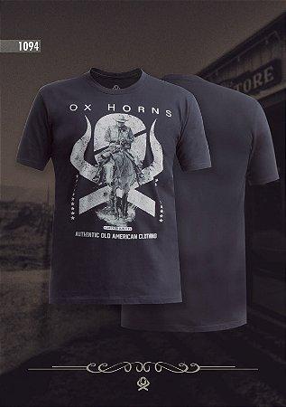 Camiseta Ox Horns Masculina Preta 1094