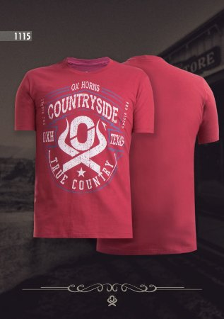 Camiseta Ox Horns Masculina Vermelha 1115