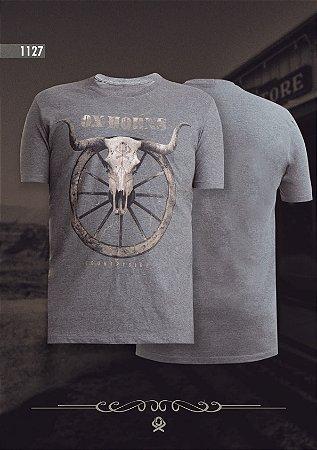 Camiseta Ox Horns Masculina Cinza Mescla 1127