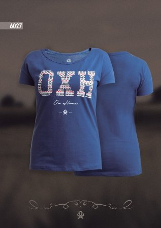 Camiseta Ox Horns Feminina Azul 6027