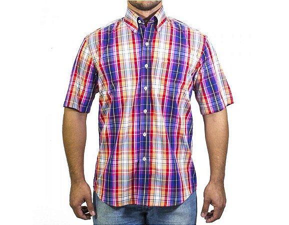 Camisa Tuff Masculina Laranja E Azul 1049C