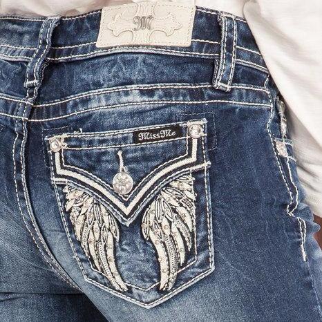 Calça Jeans Miss Me Feminina Asas De Anjo