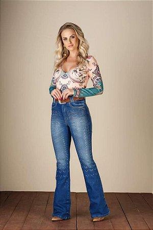 Calça Jeans Minuty Feminina Flare 19361