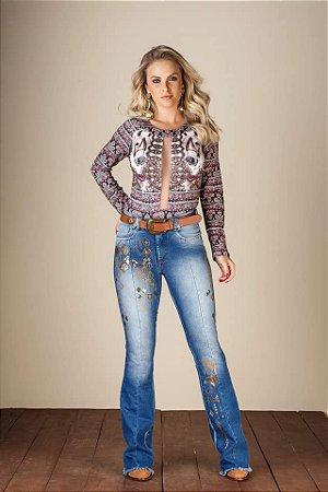 Calça Jeans Minuty Feminina Flare 19475