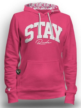 Moletom Stay Rude Fem. Rosa Srf005