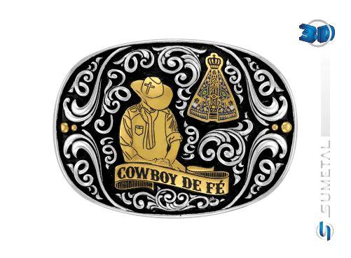 Fivela Nossa Senhora - Cowboy De Fe 10630Fj Pd G