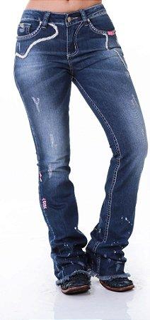 Calça Jeans Zenz Western Leopard Zw0319010