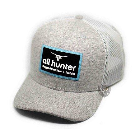 Boné All Hunter Cinza Branco