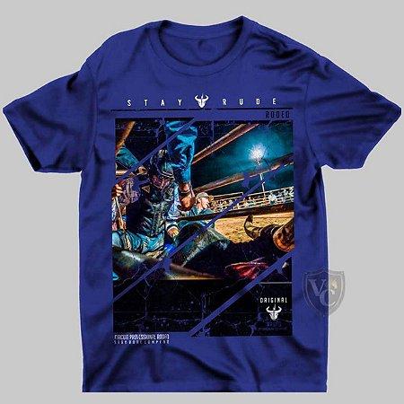 Camiseta Stay Rude Masculina Azul 1008