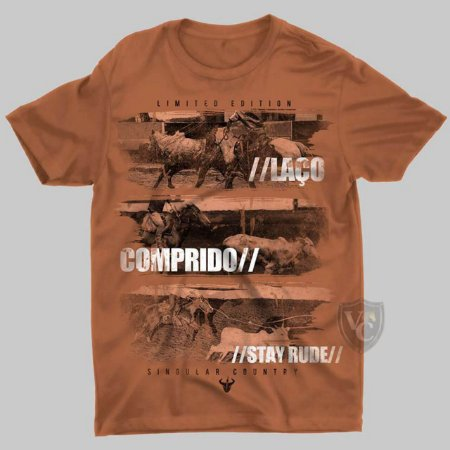 CAMISETA STAY RUDE MASCULINA COBRE 1014