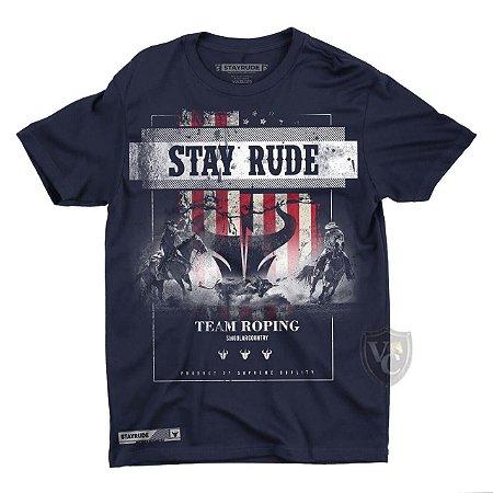 Camiseta Stay Rude Masculina Azul Marinho 1021