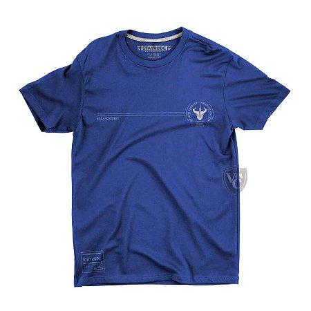 Camiseta Stay Rude Masculina Basica Azul Stb004