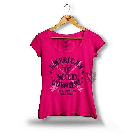 Camiseta Stay Rude Feminina Rosa 2005