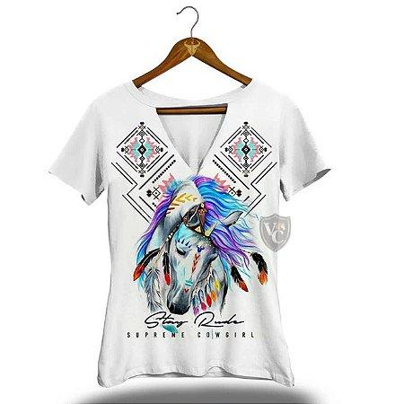 Camiseta Stay Rude Feminina Branco 2014