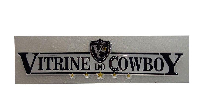 Adesivo Vitrine Do Cowboy Alto Relevo Escrita