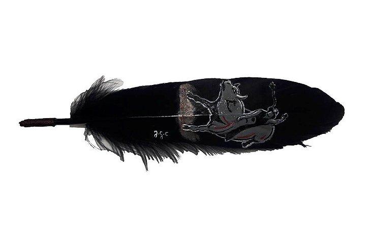 Pena Para Chapéu Bull Riders Vitrine Do Cowboy