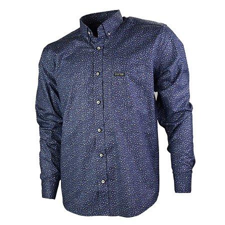 Camisa Manga Longa Xadrez Gringa Azul 0919002