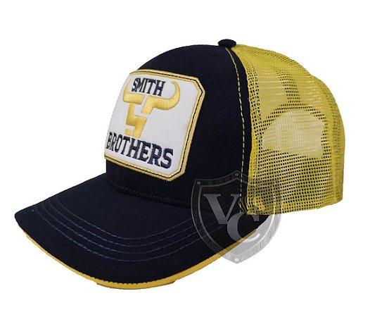 Bone Smith Brothers Preto Detalhes Amarelo