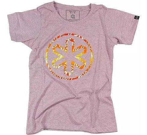 Camiseta Tuff Fem. Rosa Mescla Silk Circle 1206