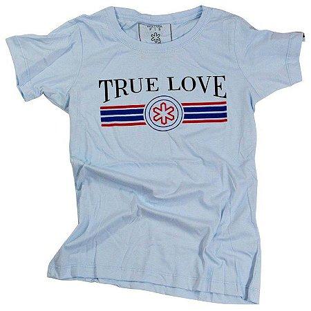 Camiseta Tuff Fem. Azul Bebe True Love 1207