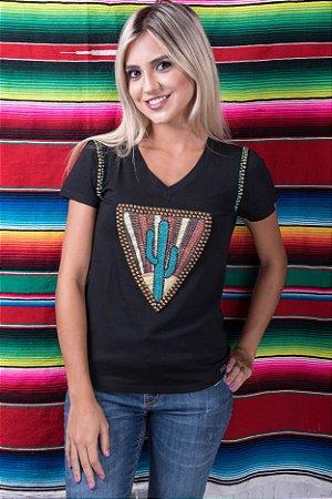 Camiseta Miss Country Cactus Bordada 0339