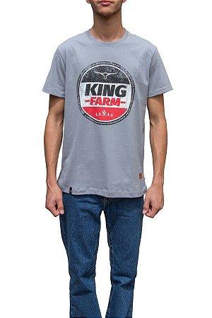 Camiseta King Farm Masculina Cinza