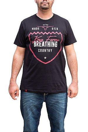 Camiseta King Farm Masculina Preto