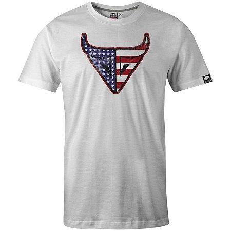 Camiseta Gringa Usa Shooter Branco 0519001