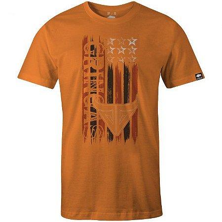 Camiseta Gringa American Shooter Laranja 30020